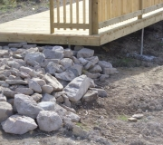 Stones-picked-on-site-will-be-ideal-hiding-places-in-the-water-for-frogs-and-newts.